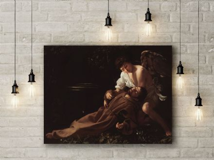 Caravaggio: Saint Francis of Assisi in Ecstasy. Fine Art Canvas.
